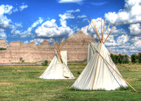 Badlands National Park - Native Americans Tipi