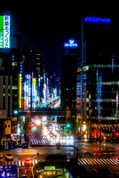 View of Chuo Street in Ginza Tokyo night